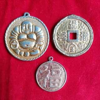 宗教 匙排 掛飾 3個