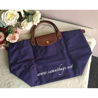 Longchamp Le Pliage Short Handle/ Medium-Amethyst