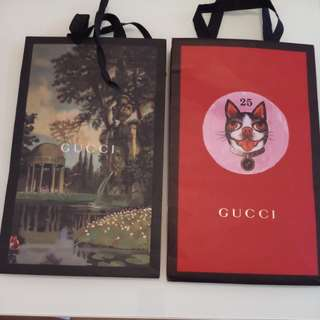 Gucci paper bags