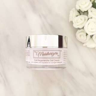 The moisturizers co. cell regenerate gel cream with mulberry and squalane for younger looking skin