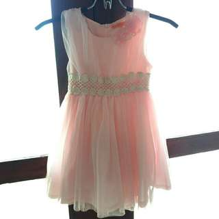 Peach pink Pretty Dress