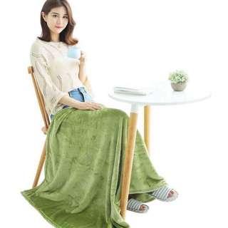 Soft Microfiber Green Blanket