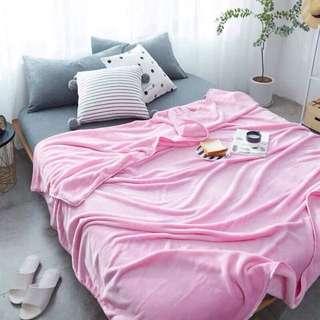 Soft Pink Microfiber Blanket