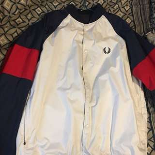 Fred Perry 雙面風褸 (紅白藍/黑)