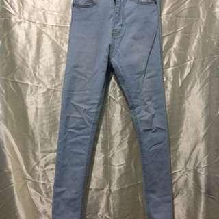 High waist light blue maong