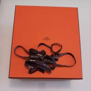 Hermes box with ribbon
