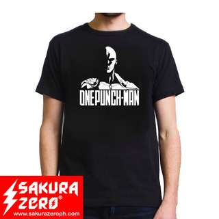 One Punch man Serious saitama  Anime Black T Shirt