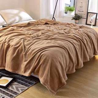 Soft Brown Microfiber Blanket