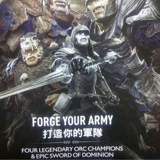 "Sony PlayStation 4 Shadow of War 'Forge your Army' ""DLC"" ps4 Middle Earth, Bonus Pack"