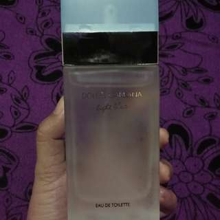 On hand: D&G light blue for women
