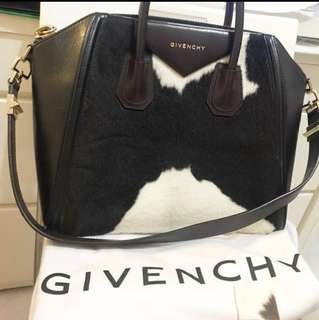 Givenchy Antigona Medium Cow-Printed Ponyskin Bag