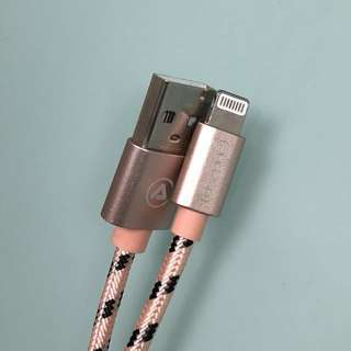 iPhone Android lightning micro USB 鋁合金尼龍 充電線 cable