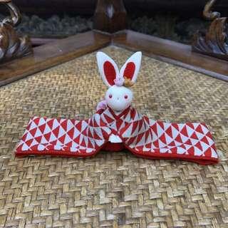 100%日本手作 傳統布藝兔 公仔 擺設