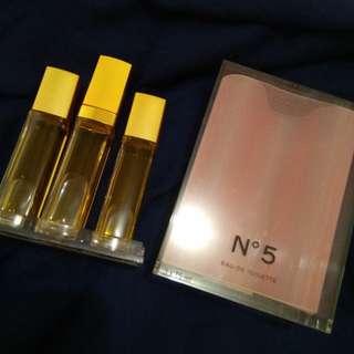 Authentic Chanel No 5 Eau de Toilette Fragrance