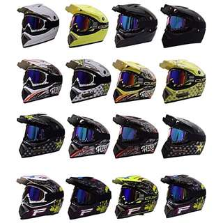 Many Colours/Designs Full Face Motorcycle Helmet Scrambler Motorcross Motocross Scrambler Off Road Dirt Bike