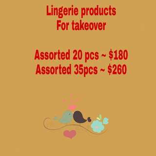 lingerie products for takeover