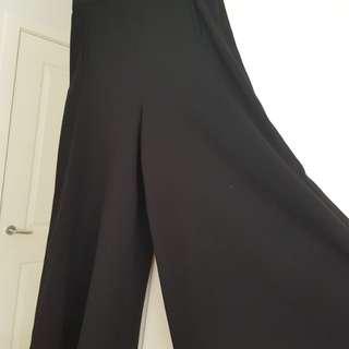 Wide Leg Pants (Black)