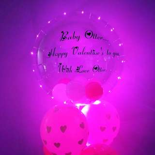 Personalise balloon fairy light balloon