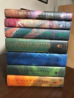 Harry Potter books 1-7 hard bound