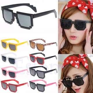 Cute Pixelated Grid Nerd Sunglasses