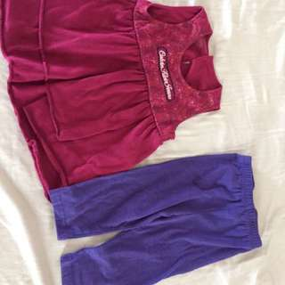 Calvin Klein cK Romper Set USA pink purple