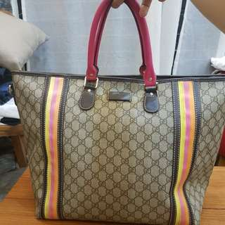 GUCCI RAINBOW WEEKEND TOTE