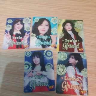 GFriend夜光31期yes card每張30,Eunha 25
