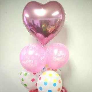 Balloon bouquet HBD balloons