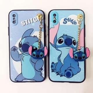 手機殼IPhone6/7/8/plus/X : Stitch史廸仔配掛件