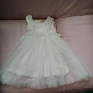 BABY CLOTHES {2 FOR-$10} EL-MEZOO WEDDING/PARTY GIRL ROSES LACES DRESS FOR 2-3YEARS.