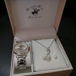 Beverly Hills watch w/ neck lace