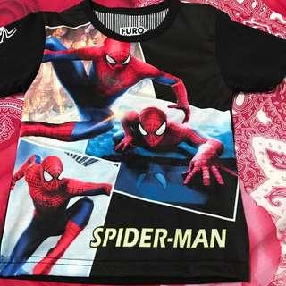 Baju anak cowo motif spiderman uk 1 tahun
