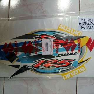 Stiker Stripping body TS 125 Yellow White Original SGP
