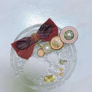 甜美日系🐰復古粉紅 x 咖啡蝴蝶髮夾