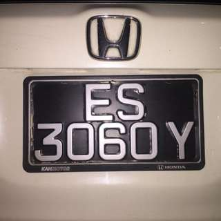 ES 3060 Y Car Plate Number for Sale!