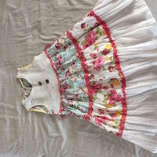 Osh Kosh B' Gosh USA garden dress girls multi color