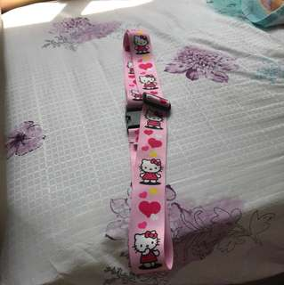 Hello kitty luggage strap
