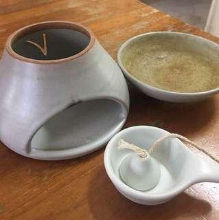 Used Ceramic Essential Oil Burner