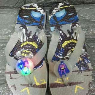 Batman slipper With light P230  Size 30-34  Good quality
