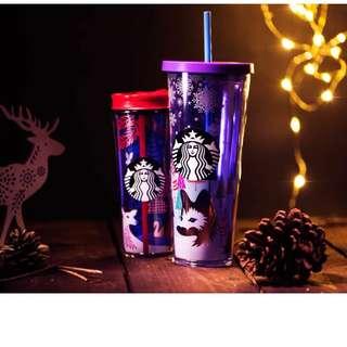 Starbucks Christmas - Night Forest Series Tumbler