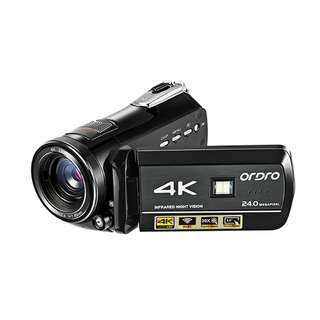 Digital Camcorder - UHD 2880x2160 Resolutions, 1/3 Inch CMOS, 3 Inch Screen, 270 Degrees Screen Rotation, 30x Zoom, IR Mode (CVGT-F022)