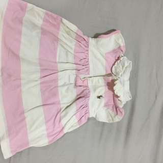 Ralph Lauren Ori pink white dress 0-9 month USA