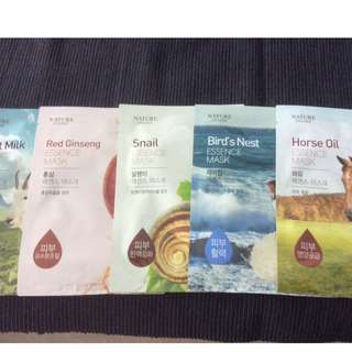 Korean Nature Inside essence masks(x5)