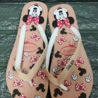 New arrival Minnie Mouse slipper P195  Size 35-39