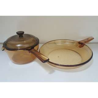 Corningware Vision Sauce Pan and Frying Pan