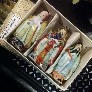 Vintage Fuk Luk Sau Porcelain  Comes With Original Box