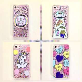 PO: 📱Funky Outgoing Introvert / Spaceship Aliens / Cute Unicorn / Can You Not Glitter Phone Case
