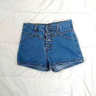 Button up jeans shorts