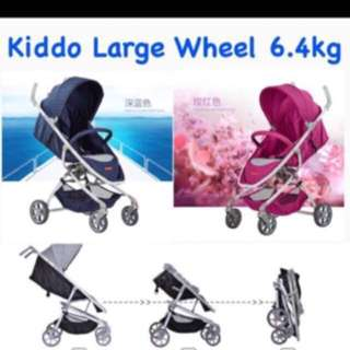 Kiddo Picnic 6.4kg Light Large Wheels Stroller