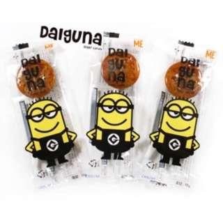 現貨 韓國空運 新版包裝 小小兵 造型棒棒糖 焦糖口味 5支 單隻